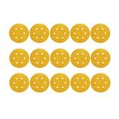 """Kit Discos de Lixa para Madeira 6"""" com 6 Furos Grão 40 15 Peças G 125 NORTON"""