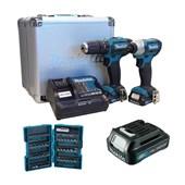 Kit Furadeira/ Parafusadeira de Impacto 12V Bivolt + Bateria e Acessórios CLX228SAX-P MAKITA