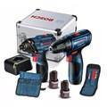 Kit Furadeira/ Parafusadeira GSR 120-LI e Chave de Impacto GDR 120-LI 2 Baterias e Maleta 110/220V BOSCH