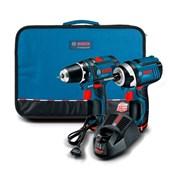 Kit Parafusadeira GSR 12-2-LI e Chave De Impacto GDR 12-Li 12v 110V 2 Baterias 06018681d1 Bosch