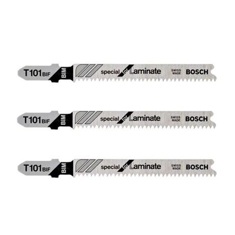 Lâmina de Serra Tico Tico Bimetal para Laminado 59 mm 3 Peças T1001BIF 2608636670 BOSCH