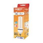 Lâmpada Fluorescente Compacta 4U 45W E27 6400K OUROLUX