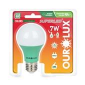 Lâmpada LED Bulbo Verde 60 Colors 7W E27 Bivolt 5454 OUROLUX