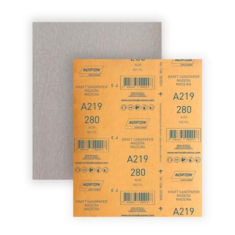 Lixa para Verniz Grão 280 Folha 225X275mm A 219 NORTON