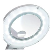 Lupa de Bancada LED 5W 3D+12D Bivolt HL-200 SOLVER