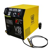 Máquina de Solda Mig 205A Monofásica com Tocha MIG 205BR V8
