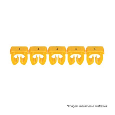 Marcador de Cabos de 1.5 a 2.5mm² Amarelo n°4 38224 CEMAR