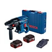 Martelete Perfurador de Impacto 20mm 18V 3.0A 110/220V com Bateria e Carregador + Maleta GBH 180-LI BOSCH
