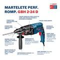 Martelete Perfurador Rompedor 24mm 820W GBH2-24D BOSCH