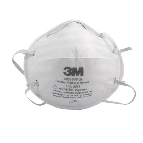 f647d6489b2bd Máscara Respiratória Descartável PFF2 Tipo Concha 8801 3M