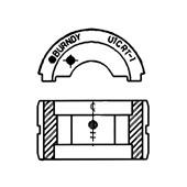 Matriz para Alicate Y35 Tipo U 10mm² U8CRT BURNDY