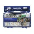 Micro Retífica com 36 Peças e 3 Acoplamentos e Jogo de Limpar e Polir 20 peças 4000 DREMEL