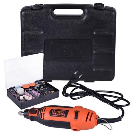 Micro Retífica Elétrica 180W com 113 acessórios RT18KA BLACK + DECKER