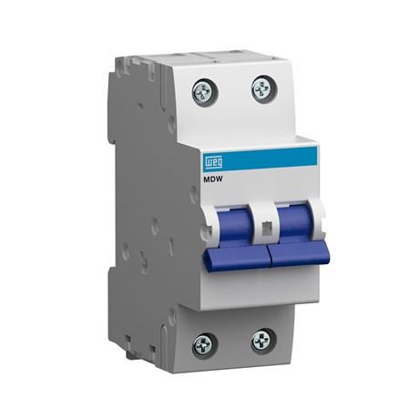 Mini Disjuntor Bipolar 25A MDW-C25-2 WEG