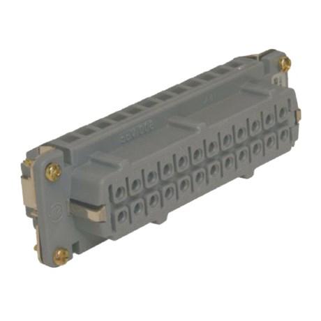 Miolo Fêmea para Carcaça 16P 16A 600V SMB16 STECK