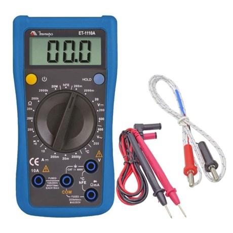 Multímetro Digital 600/600V AC/DC ET-1110A MINIPA