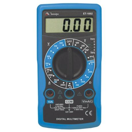 Multímetro Digital Categoria I 600V ET-1002