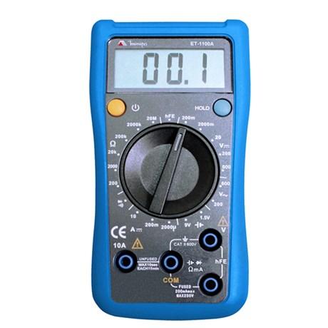 Multímetro Digital Categoria II 600V ET-1100A