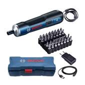 Parafusadeira à Bateria de Lítio 3.6V Bivolt com Kit 33 Bits Bosch GO