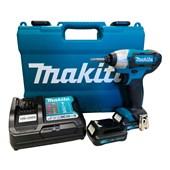 """Parafusadeira de Impacto 1/4"""" 2 Baterias 12V com Maleta Bivolt TD110DWYE MAKITA"""