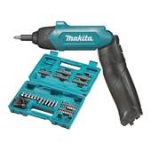 """Parafusadeira Reta Dobrável 1/4"""" à Bateria 3.6V com Maleta e Acessórios Bivolt DF001DW MAKITA"""
