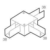 Perfilado Caixa de Derivação tipo T 38x38mm Chapa n°18 PG 936250 CEMAR