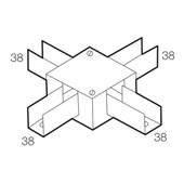 Perfilado Caixa de Derivação tipo X 38x38mm Chapa n°18 PG 936262 CEMAR