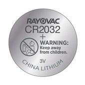 Pilha Eletrônica 3V 5 Unidades CR2032-5 RAYOVAC
