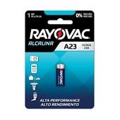 Pilha Eletrônica Alcalina 12V V23GA-1 RAYOVAC