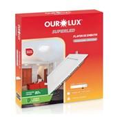 Plafon Led para Embutir 24W 6400K Quadrado 283x283mm 3205 OUROLUX