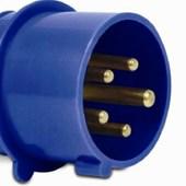 Plugue Industrial Macho Azul 16A+T 200/250V 9H IP44 S4079-BRASIKON STECK