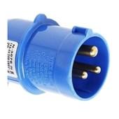 Plugue Industrial Macho Azul 2P+T 16A 250V IP44 N3076-NEWKON STECK