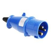 Plugue Industrial Macho Azul 2P+T 32A 250V IP44 N3276-NEWKON STECK