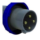 Plugue Industrial Macho Azul 3P+T 125A 250V IP67 S4679-BRASIKON STECK