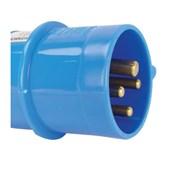 Plugue Industrial Macho Azul 3P+T 32A 250V IP44 N4279-NEWKON STECK