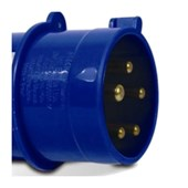 Plugue Industrial Macho Azul 3P+T+N 32A 250V IP44 N5279-NEWKON STECK