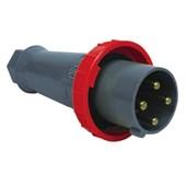 Plugue Industrial Macho Vermelho 3P+T 125A 250V IP67 S4676-BRASIKON STECK