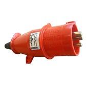 Plugue Industrial Macho Vermelho 3P+T 32A 440V IP44 N4276-NEWKON STECK