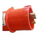 Plugue Industrial Macho Vermelho 3P+T 63A 440V IP67 N4576-NEWKON STECK