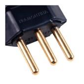 Plugue Macho Reto 2P+T 10A 250V TRAMONTINA ELETRIK