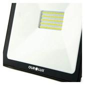 Projetor SuperLed Slim 50W 6500K Bivolt Preto 3265 Ourolux