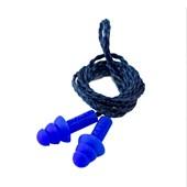 Protetor Auricular Tipo Plug Silicone 18dB Azul 017 MAXXI ROYAL