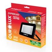 Refletor Projetor LED Preto 30W 6500K Bivolt 3378 OUROLUX
