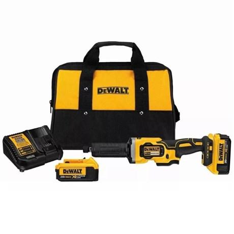 Retificadeira Reta Brushless 20V com 2 Baterias e Bolsa DCG426M2-B2 DEWALT