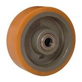 Roda Poliuretano TR 125x50mm 650Kg com Rolamento B642123 TELLURE