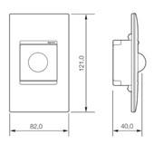 Sensor de Presença de Parede Embutir Universal Bivolt Branco 7m 611026 PIAL