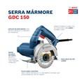 "Serra Mármore 5"" 1500W sem Disco GDC 150 TITAN BOSCH"