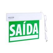 Sinalização de Saida Verde Bivolt 25328 SEGURIMAX