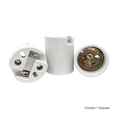 Soquete E40 16A 500V em Porcelana MT2403 DECORLUX