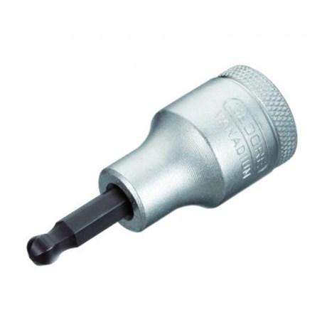 Soquete Hexagonal Abaulado 6mm Encaixe 1/2'' IN19K-6 GEDORE